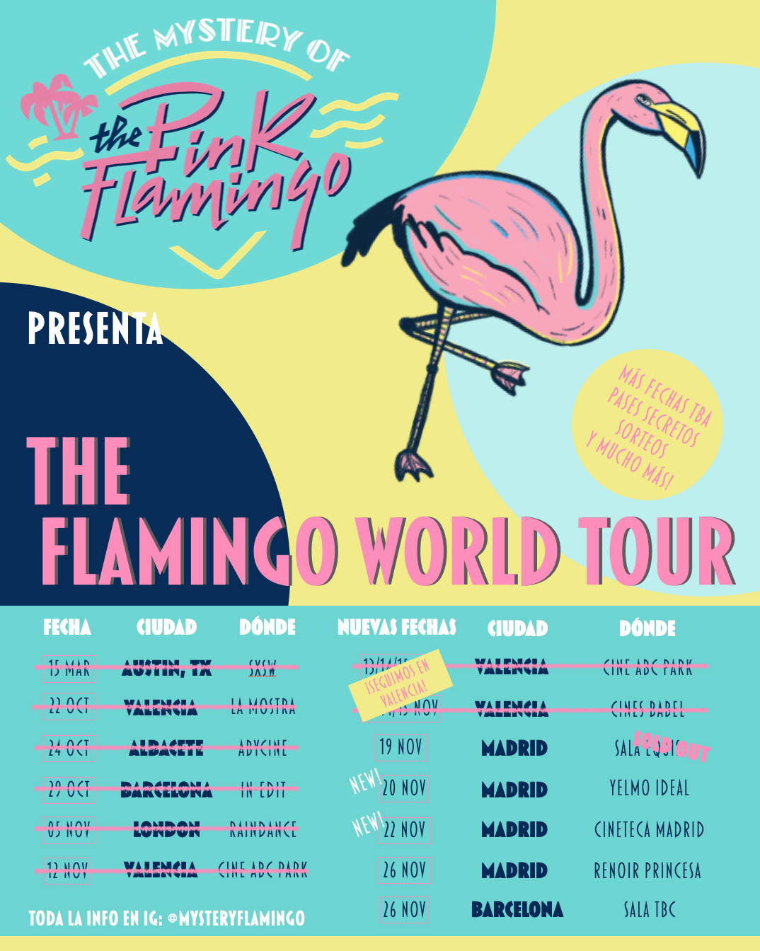 Empieza THE FLAMINGO WORLD TOUR